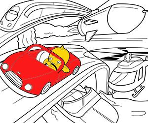 Dibujos para Colorear de Transportes