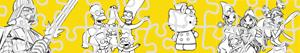Colorear Puzzles de Personajes de dibujos