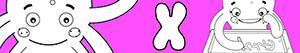 Colorear Nombres de Niña con X